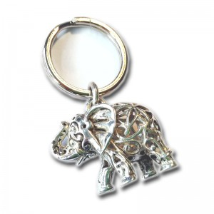 Schlüsselanhänger 925 Silber ELEFANT