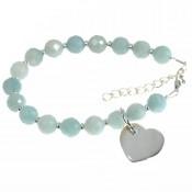 "Armband ""MARIE"" Amazonit + Herz 925er Silber"