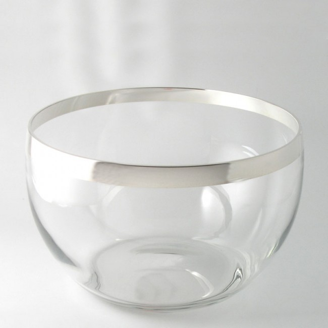 Kristallschale AMBERG Ø19cm Feinsilberrand