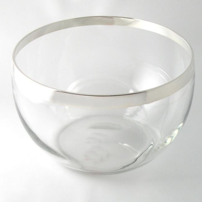 Kristallschale AMBERG Ø23cm Feinsilberrand