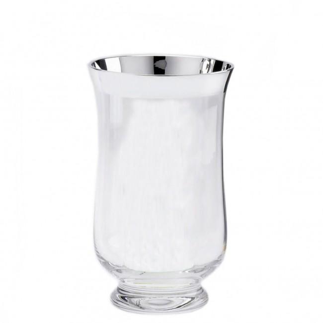 Kristall-Windlicht ANNA H20cm Feinsilberrand