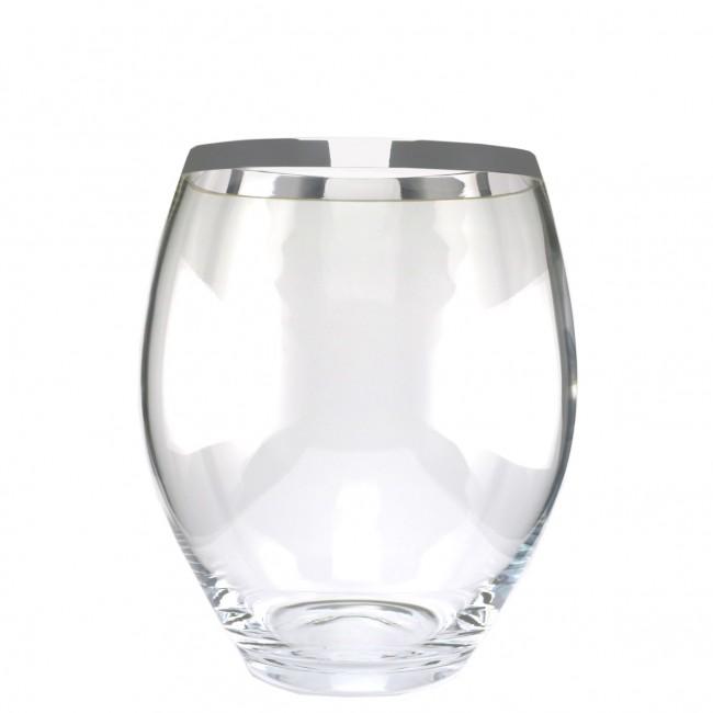 Kristall-Vase PHILIPPA H19cm Feinsilberrand