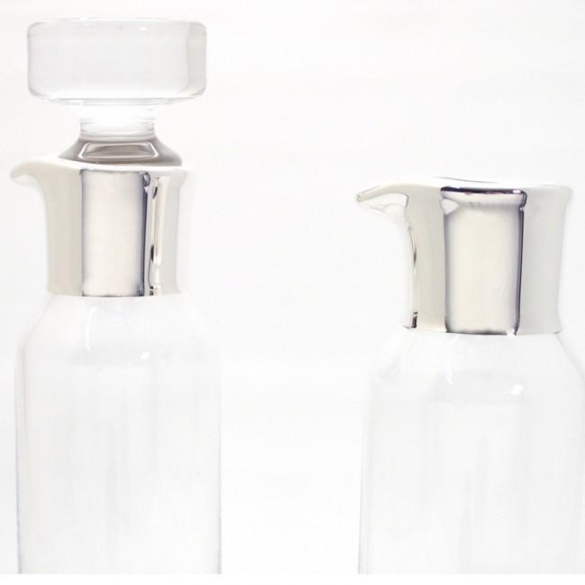 Essig- und Ölkaraffe PAAR 0,12l Feinsilberrand
