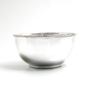 Silber Perlrandschale LEIPZIG Ø9cm versilbert