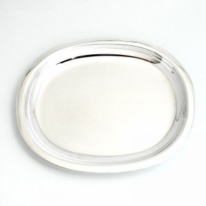 Silbertablett FRANKFURT 15x13cm versilbert