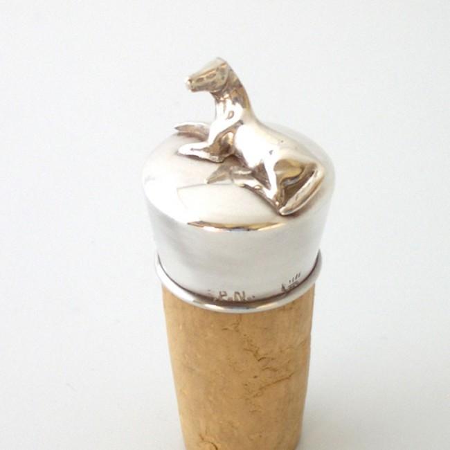 Silber Flaschenkorken FOHLEN versilbert