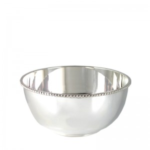 Silber Perlrandschale LEIPZIG Ø11cm versilbert