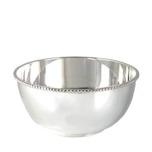Silber Perlrandschale LEIPZIG  Ø13cm versilbert