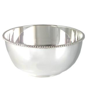 Silber Perlrandschale LEIPZIG Ø14cm versilbert