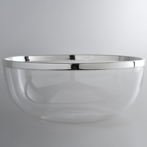 Kristallschale DÜSSELDORF Ø26cm versilbert