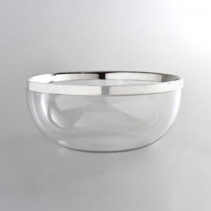 Kristallschale DÜSSELDORF Ø17cm versilbert