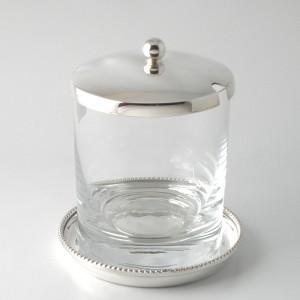 Marmeladenglas LIESEL mit Untersetzer versilbert