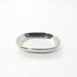 Porzellanschale mit Silberrand (versilbert)