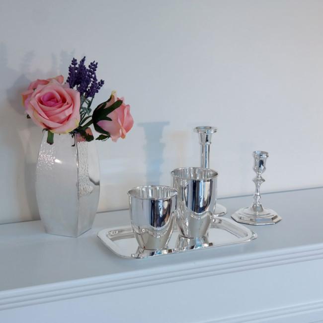 Kerzenständer versilbert STARKENBURG Höhe 12cm