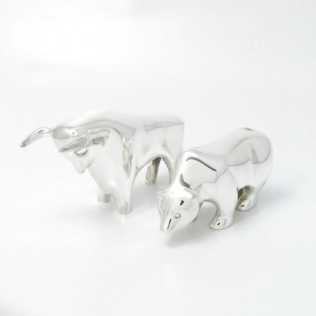 Silbertier BÄR  versilbert