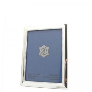Silber Fotorahmen BARBARA  6x9cm versilbert