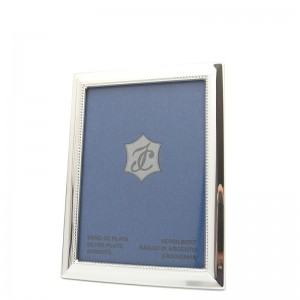 Silber Fotorahmen BARBARA  9x13cm versilbert - 2 Stück à