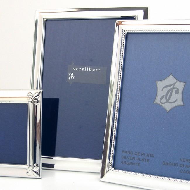 Silber Fotorahmen MAJA 10x15cm versilbert
