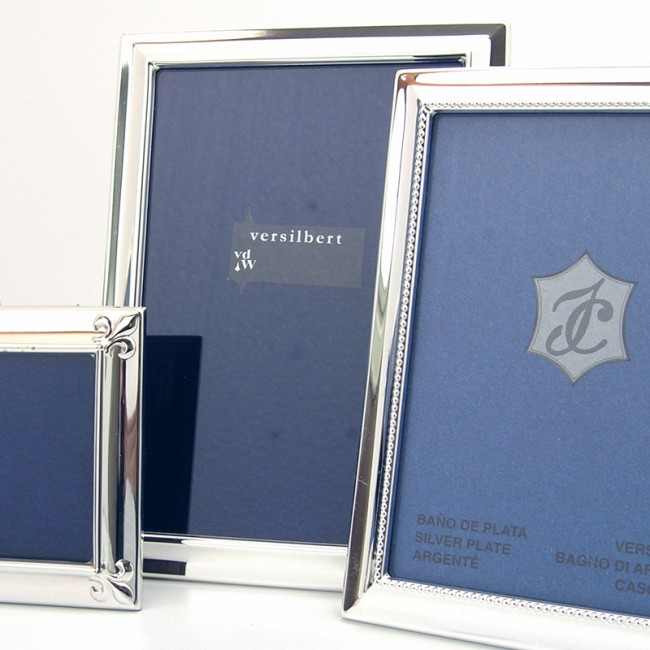Silber Fotorahmen MAJA 18x24cm versilbert
