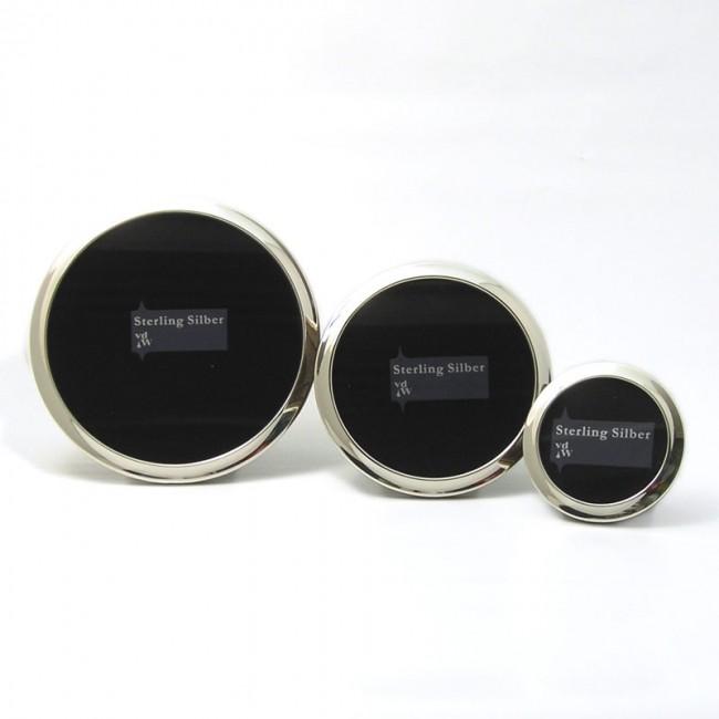Silber Fotorahmen CONSTANZE Ø 6cm 925er Silber