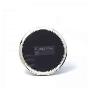 Silber Fotorahmen CONSTANZE Ø 9cm 925er Silber