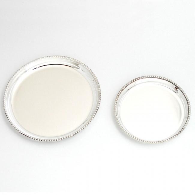 Silber Untersetzer AUGSBURG Ø 9cm 925er Silber