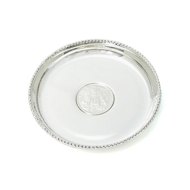 Silber Münzteller ALTONA Ø9cm 925er Silber