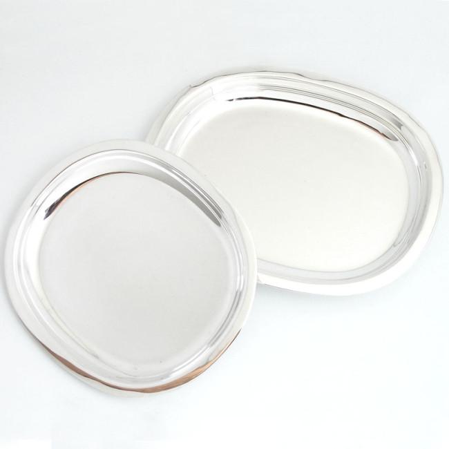 Silbertablett FRANKFURT 15x13cm 925er Silber