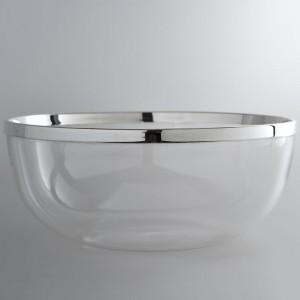 Kristallschale DÜSSELDORF Ø26cm 925erSilber