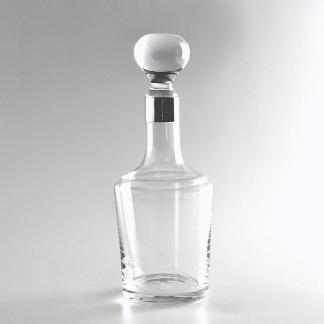 Kristallkaraffe JULIUS 925er Silber