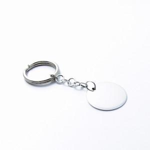 Silber Schlüsselanhänger RUND 925er Silber