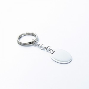 Silber Schlüsselanhänger OVAL 925er Silber