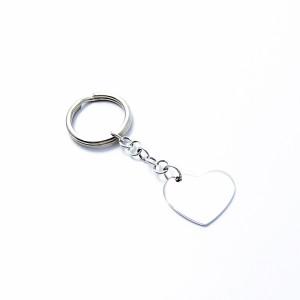 Silber Schlüsselanhänger HERZ flach 925er Silber