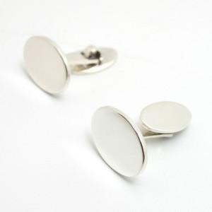 Manschettenknöpfe JACOB oval 925er Silber
