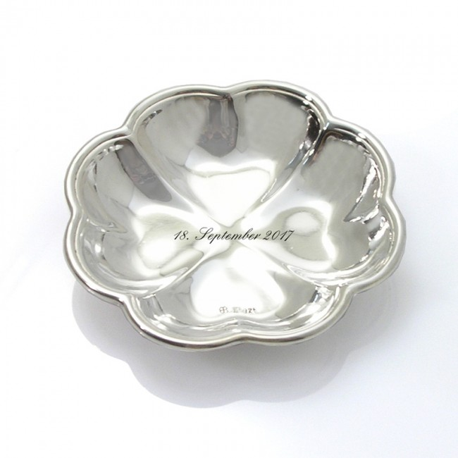 Silberschale KLEEBLATT Ø 6,5cm 925er Silber