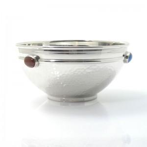 Silberschale AUMÜHLE mit Edelsteinen 925er Silber