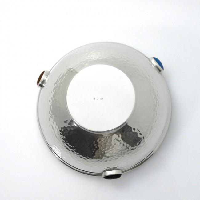 Silberschale AUMÜHLE mit Edelsteinen 925erSilber