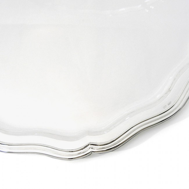 Silbertablett MÜNCHEN Ø20cm 800er Silber