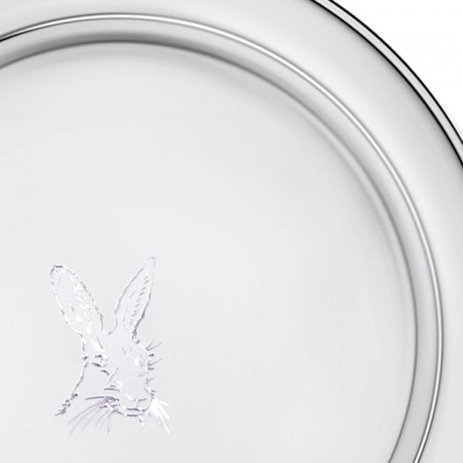 Silberteller STADE Ø10cm mit HASE 925er Silber