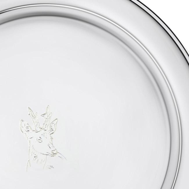 Silberteller STADE Ø12cm mit REHBOCKKOPF 925er Silber